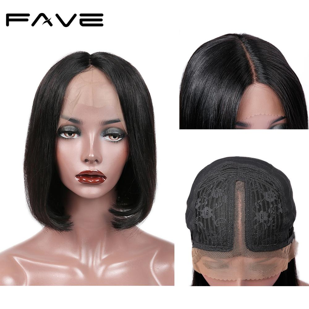 Short Lace Front Human Hair Wigs Bob Straight Wig Healthy And Thick For Black Women Brazilian Remy Hair Free Shipping FAVE Hair