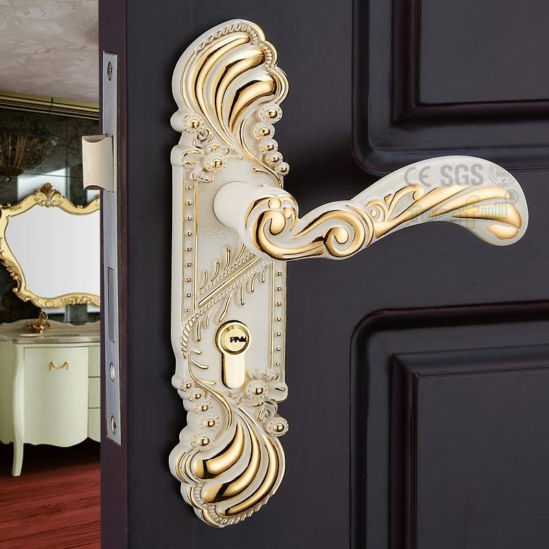 New European Style Machinery Handles Lockset Wooden Door Split Lock Handle remington ne3750