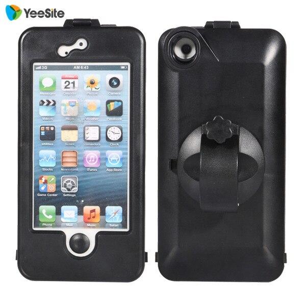 Impermeable caso para iphone 5 5s doble capa montaje del manillar de la biciclet
