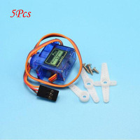 5Pcs SG90 Mini Gear Micro 9g Servo For RC Helicopter Airplane Car Boat Trex