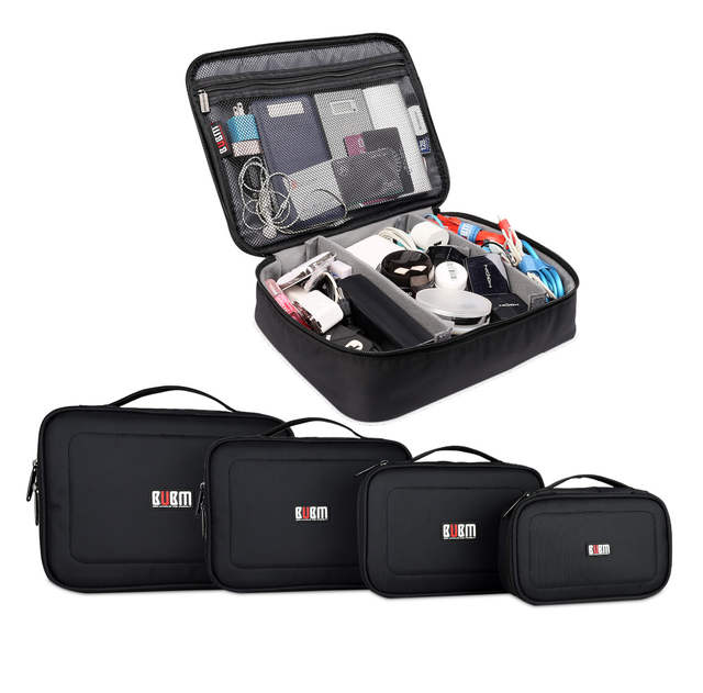 Bubm Electronic Accessories Storage Bag Digital Gadget Devices Cable Usb Flash Ipad Organizer Travel Carry Case