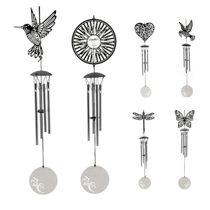 Stainless steel bucolic style multi - tube wind - bell decoration Outdoor home wind chime decoration 6 style A20