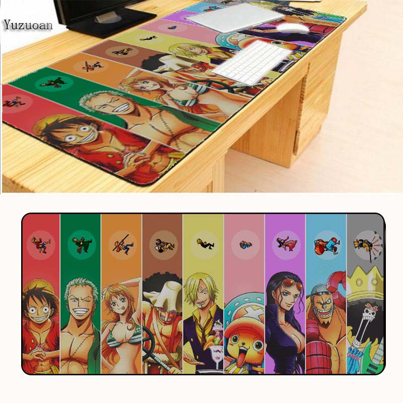 Yuzuoan  High Quality One Piece Mouse Pad Gamer Play Mats Size For 300x700x2mm And 400x900x2mm XL Large Black Overlock Mousepad
