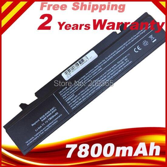 7800mAh Bateria Para SamSung AA-PB9NC6B AA-PB9NS6B AA-PB9NC6W AA-PL9NC6W R468 R458 R505 NP300 NP350 RV410 RV509 R530 R580 R528