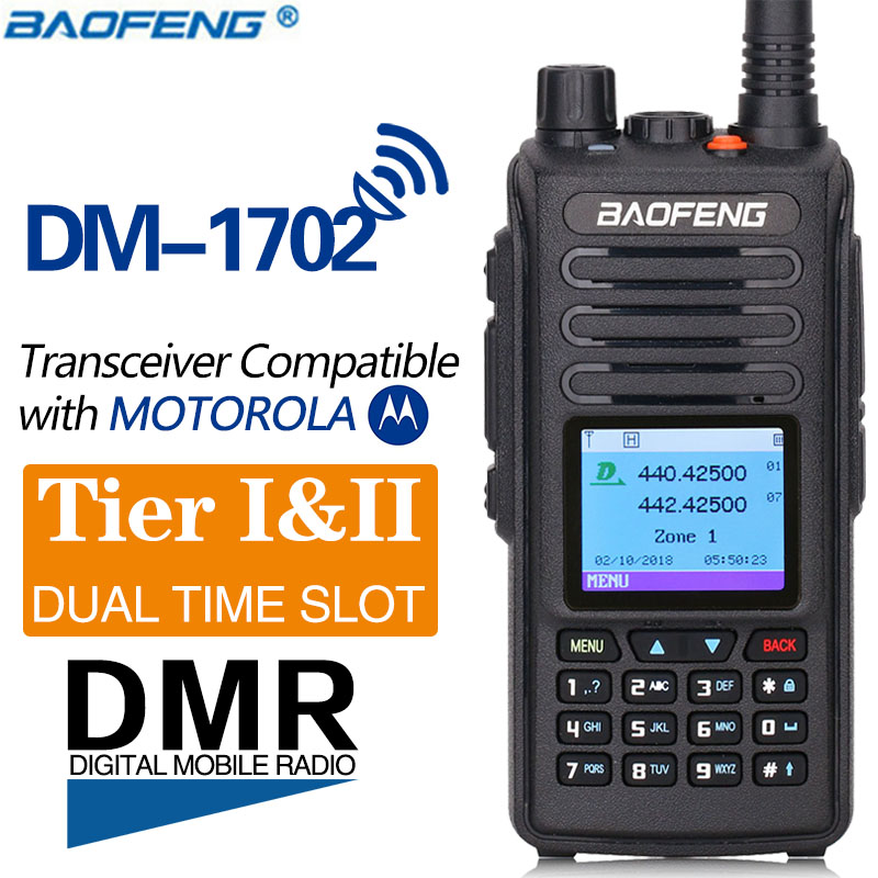2019 Baofeng DMR DM 1702 GPS Walkie Talkie VHF UHF Dual Band 136 174 400 470MHz