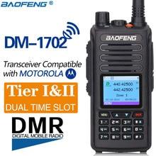 2020 Baofeng DMR DM 1702 (GPS) 워키 토키 VHF UHF 듀얼 밴드 136 174 & 400 470MHz 듀얼 타임 슬롯 티어 1 & 2 디지털 라디오
