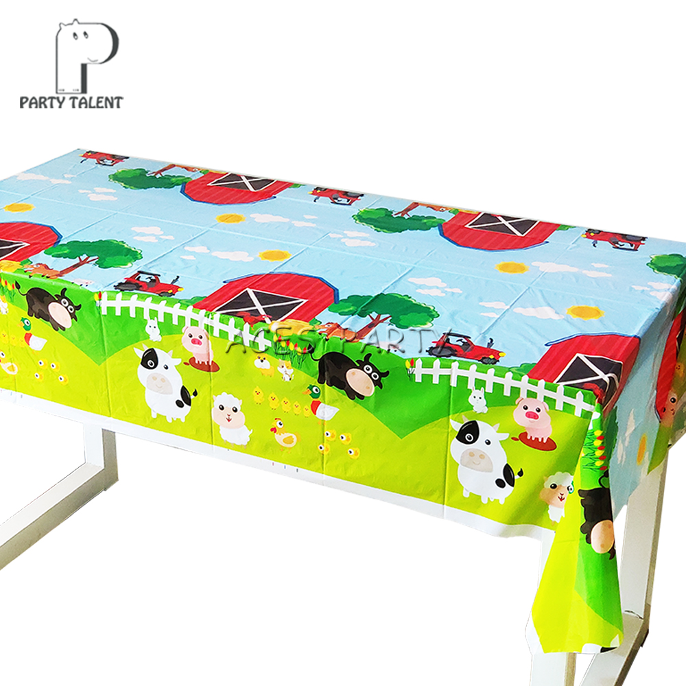 1pcs Party supplies Farm Animals Pig Cow Sheep theme party, birthday party decoration disposable table cloth table cover-in Disposable Party Tableware from Home & Garden