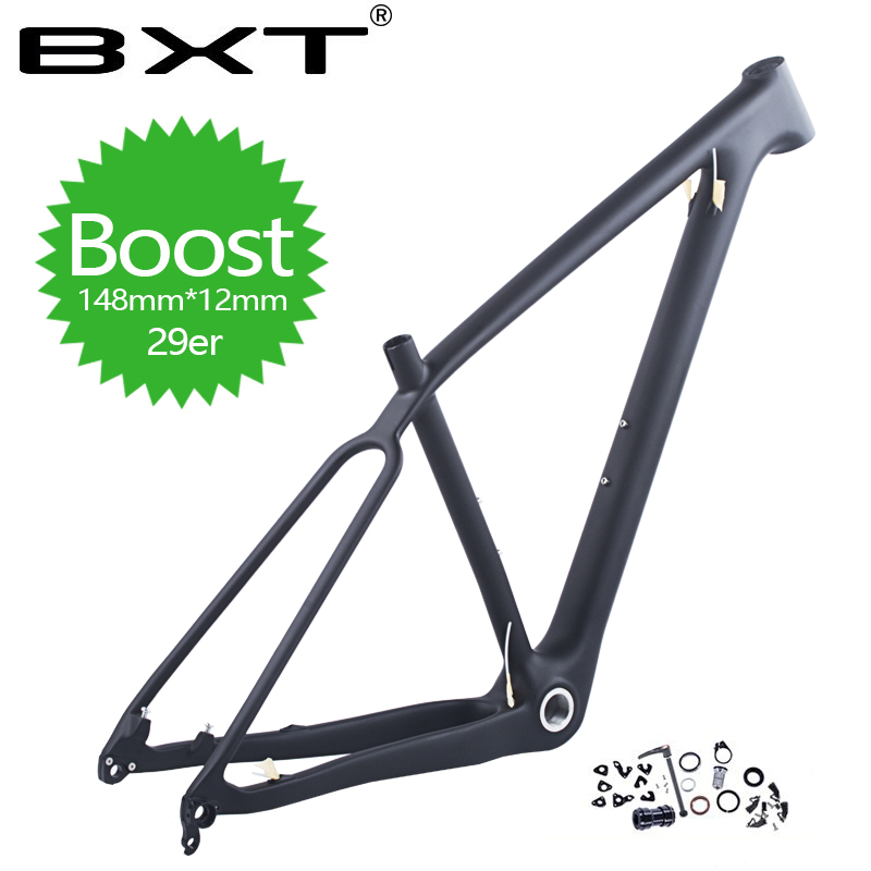 2018 The latest 29er full carbon BOOST frame 148 * 12mm bicycle mountain bike frame made in China