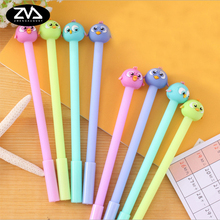 цены 1x Cute eye-popping birdie gel pen creative pen pen student pen pen office standing pen children's school gift free shipping