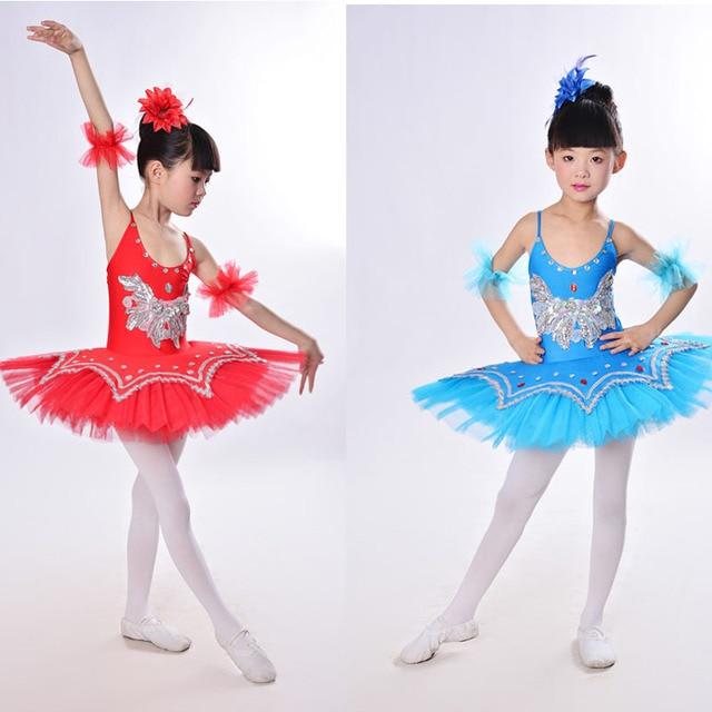 44d1d34e1 Girls Gymnastic Leotard Ballet Dancing Dress White Swan Lake Costume ...