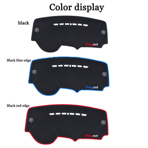 Image 3 - Araba dashboard ışıklı çerçeve enstrüman platformu Masası Kapağı Paspaslar Halı önlemek Için Peugeot 3008 2016 2017 2018 Otomotiv iç