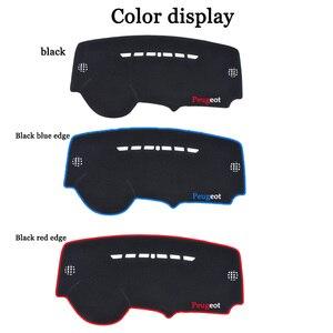 Image 3 - car dashboard avoid light pad instrument platform Desk Cover Mats Carpets For Peugeot 3008 2016 2017 2018 Automotive interior