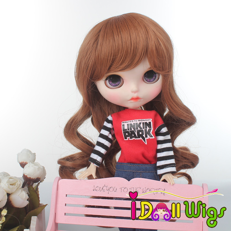 High Quality Blyth Doll Wigs Long Wave Brown for Dolls Wig Only