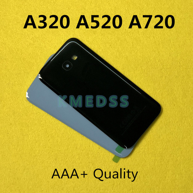 Battery Back Cover Door Housing Replacement + Camera Glass Lens Frame For Samsung Galaxy A5 2017 A520 A520F A3 A320 A7 A720