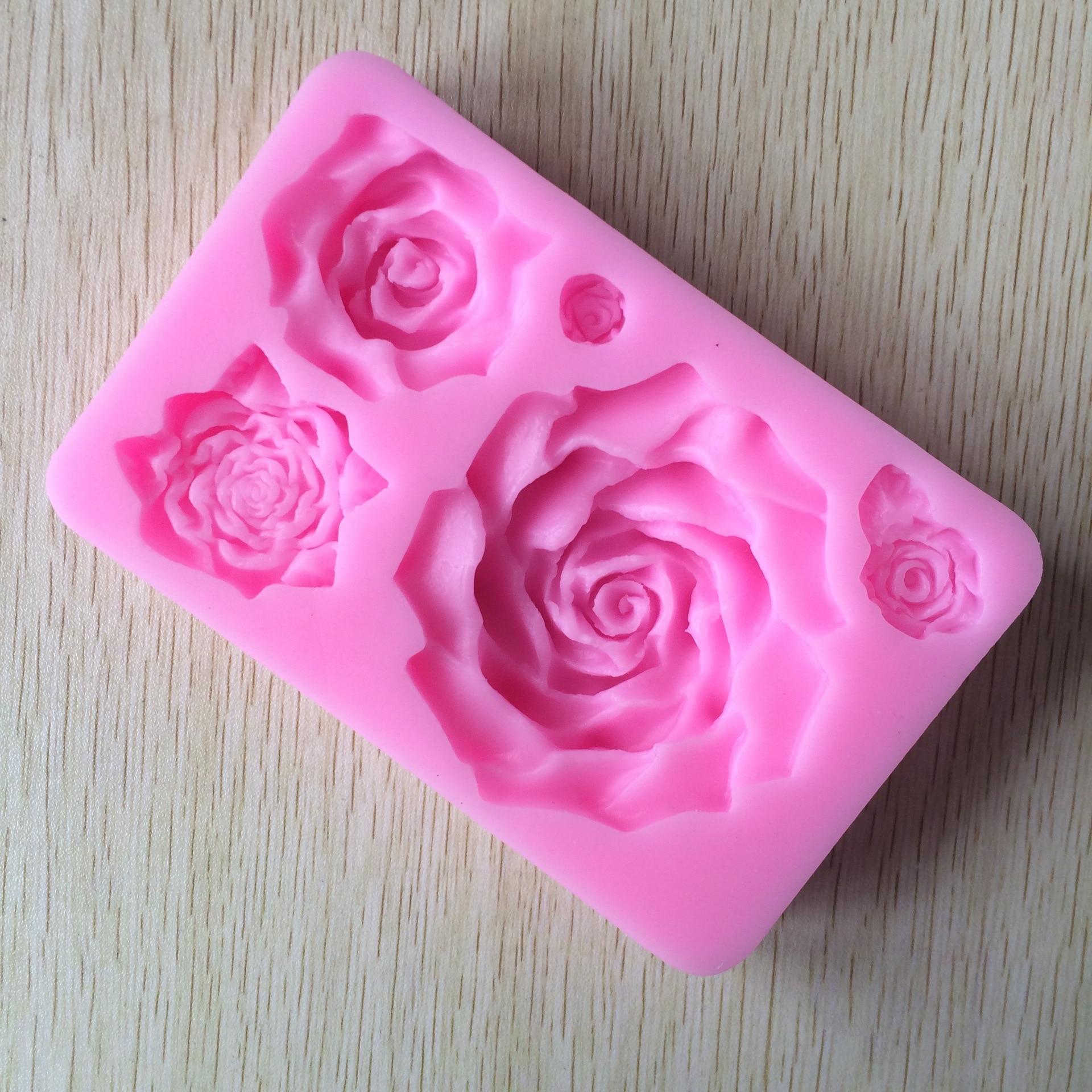 2 шт. в форме роз силиконовые формы для торта DIY украшения торта инструменты для выпечки конфеты кубики льда формы для помадки торта формы