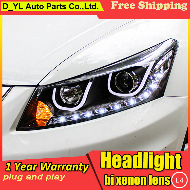 Car Styling Headlights for Accord 2008 2013 LED Headlight for Accord Head Lamp LED Daytime Running