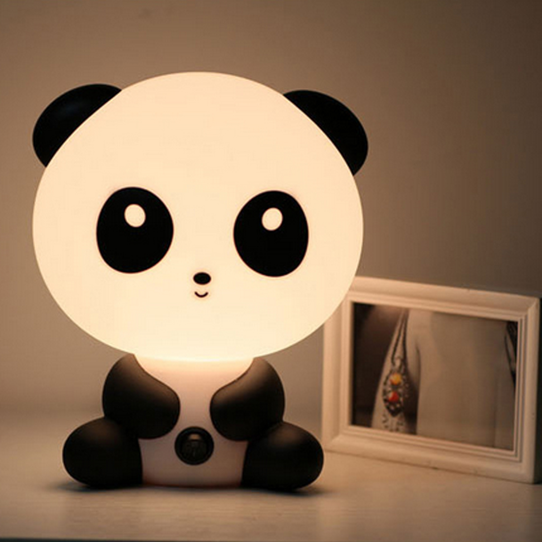 EU Plug Baby Bedroom Lamps Night Light Cartoon Pets Rabbit Panda PVC Plastic Sleep Led Kid Lamp Bulb Nightlight for Kids