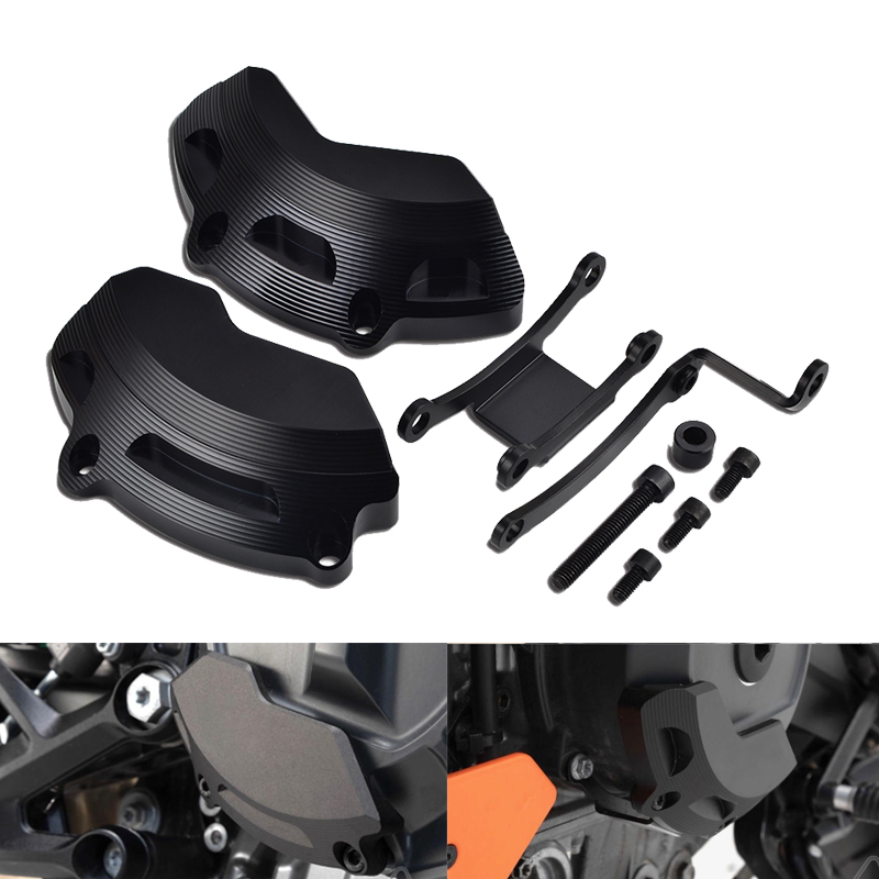 Rigt Left Engine Case Slider Protector Guard For KTM 790 Duke 2018 2019 Duke790 Motorcycle Accessories Parts Protection