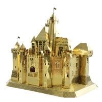 MU 3D Metal Puzzle Fantasy Castle Building Model DIY Laser Cut Jigsaw Model For Adults Kids