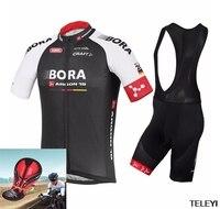 New 2017 BORA ARGON 18 ĐỘI Ropa Ciclismo Ngắn Tay Đi Xe Đạp Jersey Bike Xe Đạp phong cách mùa hè mtb đi xe đạp quần áo