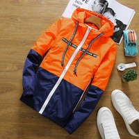 HCXY Jacket Men Spring Autumn Bomber Jacket Mens Sunscreen Windbreak Coat Casual Slim Active Couple Unisex