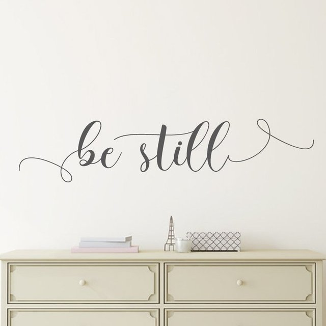 Be Still Vinyl Wall Decal Quote Bible Verse Scripture Home Decor Wall Sticker