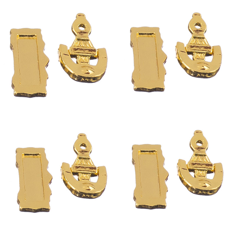 New Hot Set of 4 Dolls House Miniature Fittings Door Knocker Mail Slot Letter Box Doll Houses Parts Supplies Accessories