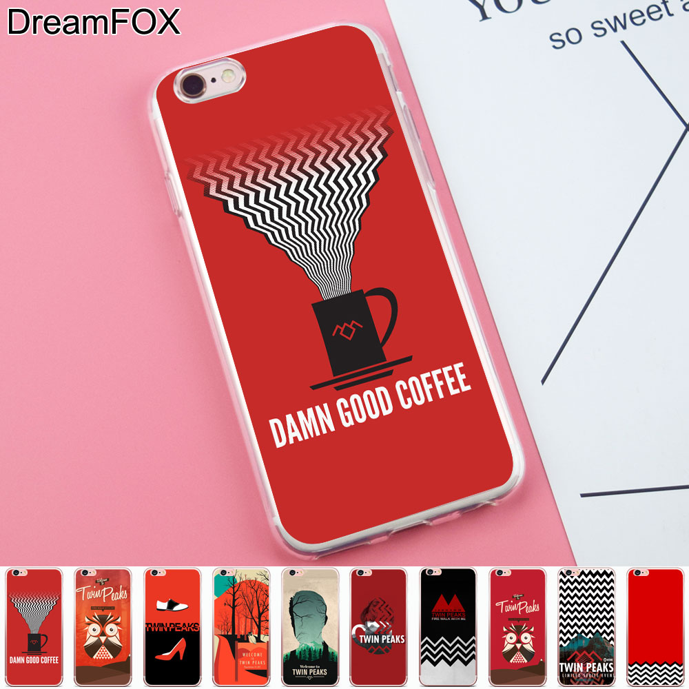 DREAMFOX K250 Twin Peaks Style Soft TPU Silicone Case Cover For Apple iPhone 8 X 7 6 6S Plus 5 5S SE 5C 4 4S
