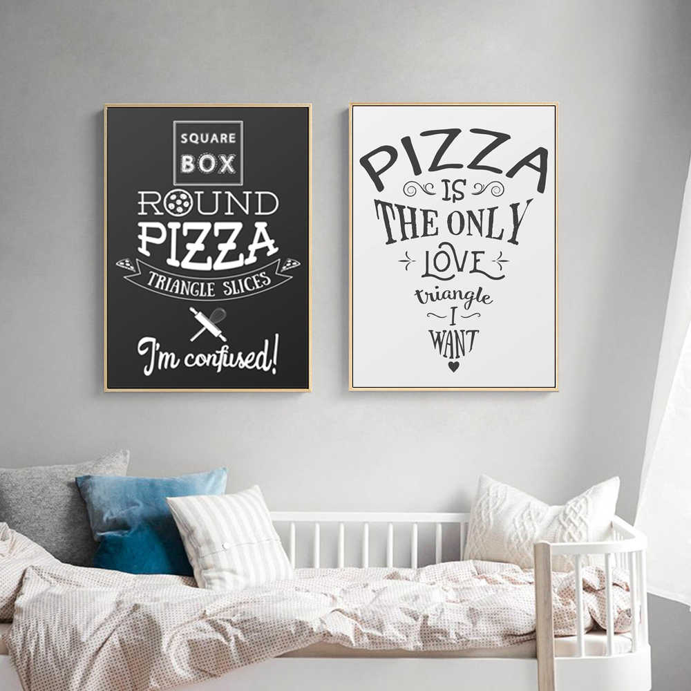 Wall Art English Phrase Pizza Poster Marijuana Canvas Photo Wall Picture Modern Restaurant Dinning Room Decoration Painting