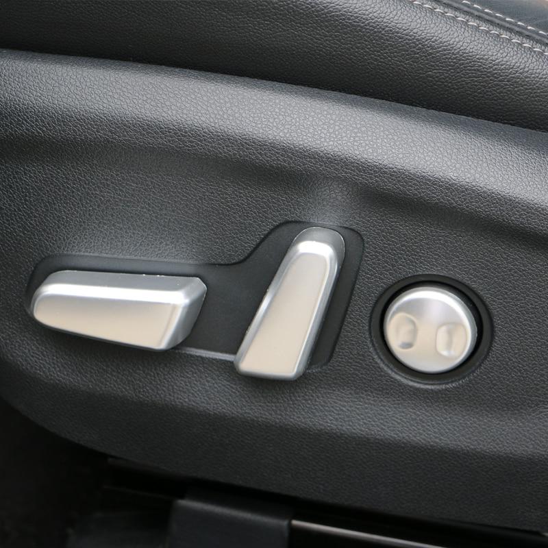 Interior 5Pcs Car Seat Adjustment Switch Button Matte Cover For 2017-2019 KIA Sportage QL