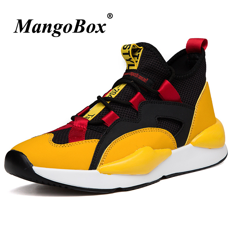 Best Boys Athletic Men Brand Luxury Running Shoes Black Yellow 53cARj4Lq