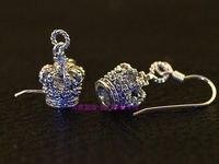 Джастин новый 925 серебра циркон корона тщательная тайских серебряные серьги одна пара