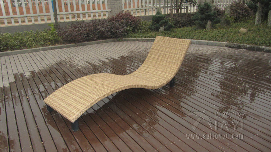 US $1900.0 |Modern Swimming Pool Waterproof Rattan Sun Lounger to sea port  by sea-in Sun Loungers from Furniture on AliExpress