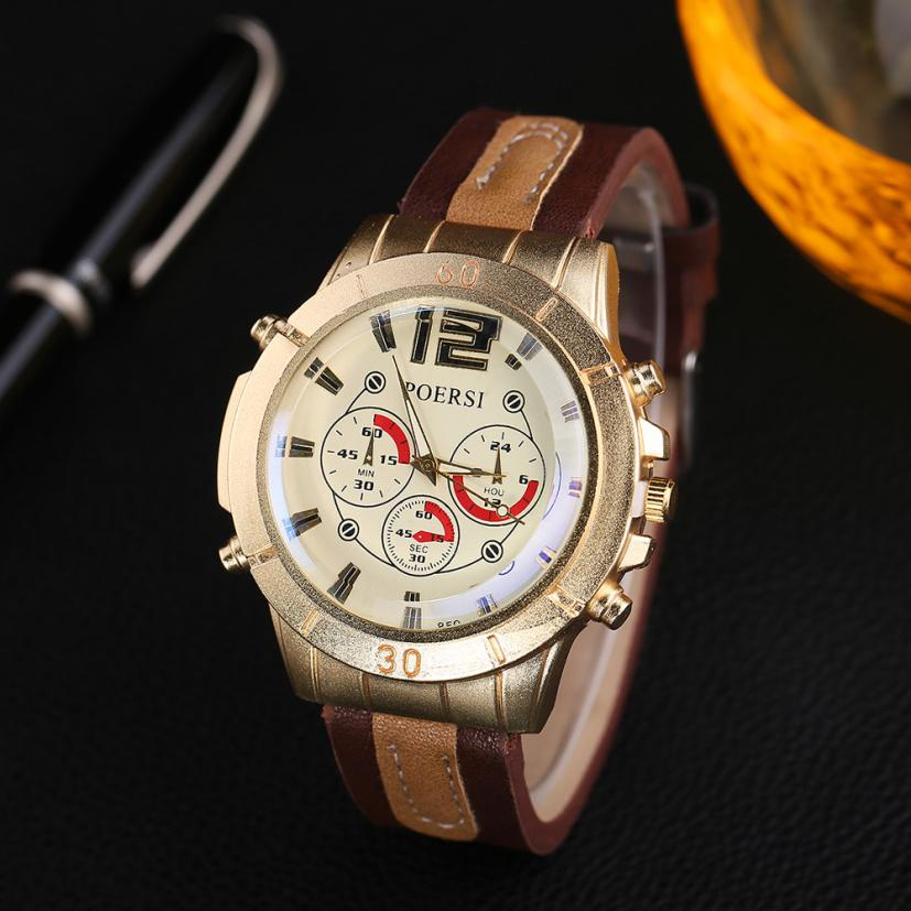 Watches Men Watch Luxury Brand Analog Men Military Leather Watch Reloj Hombre Quartz Curren Male Sports Watches #D