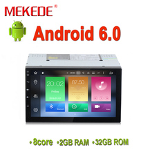 Android6.0 Octa-Core RAM 2GB DDR3 ROM 32GB car gps nvigator for Double 2Din 7inch full touch gps radio 4G wifi free shipping