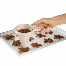 1 пакет ручной регулируемый Воронка для шоколада легко залить Воронка для инструменты для украшения выпечки, торта