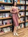 Простые женские летние миди-платья в горошек с карманами на элегантных кнопках, повседневные, бесплатная доставка