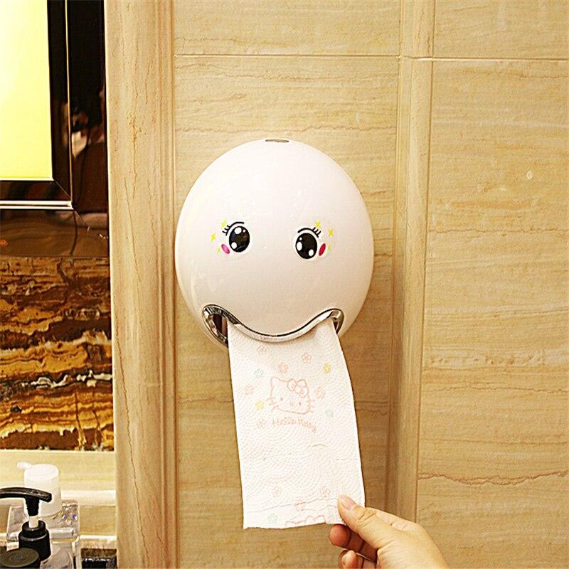 Plastic Tissue Box Cover Creative Facial Expression Roll Paper Boxes Toilet Dispenser For Napkins Cute Tissue Holder Caja Tissue