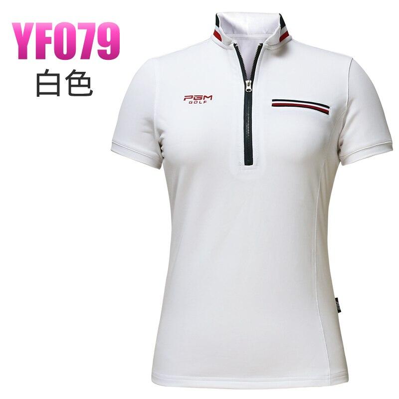 brand golf shirt lady summer outdoor golf short-sleeve T shirt girl golf apparel quick dry slim sports wear white and navy tops