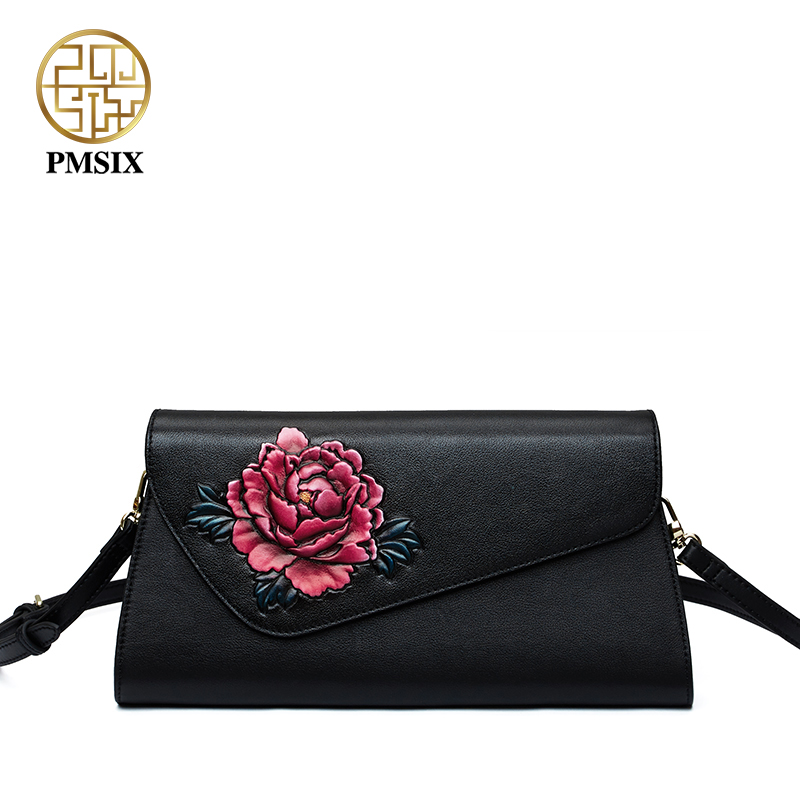 PMSIX women famous brands Day clutches Large capacity casual zipper fashion women messenger bags convenient Cow Leather Handbags cardamom clutches women fashion solid colors shape of hobos zipper soft cow leather casual small clutches cell phone pocket