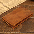 Vintage Genuine Leather Credit Card holder wallet Italian Leather business card wallet simple ID holder money  Natural Cowhide