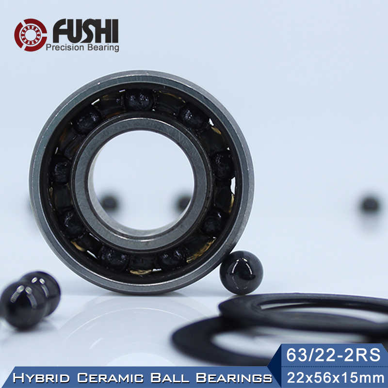 63/22 Hybrid Ceramic Bearing 22*56*15 mm ( 1PC ) Race Bike Front Rear Wheel 63 22 2RS LUU Hybrids Si3N4 Ball Bearings 63/22RS стоимость
