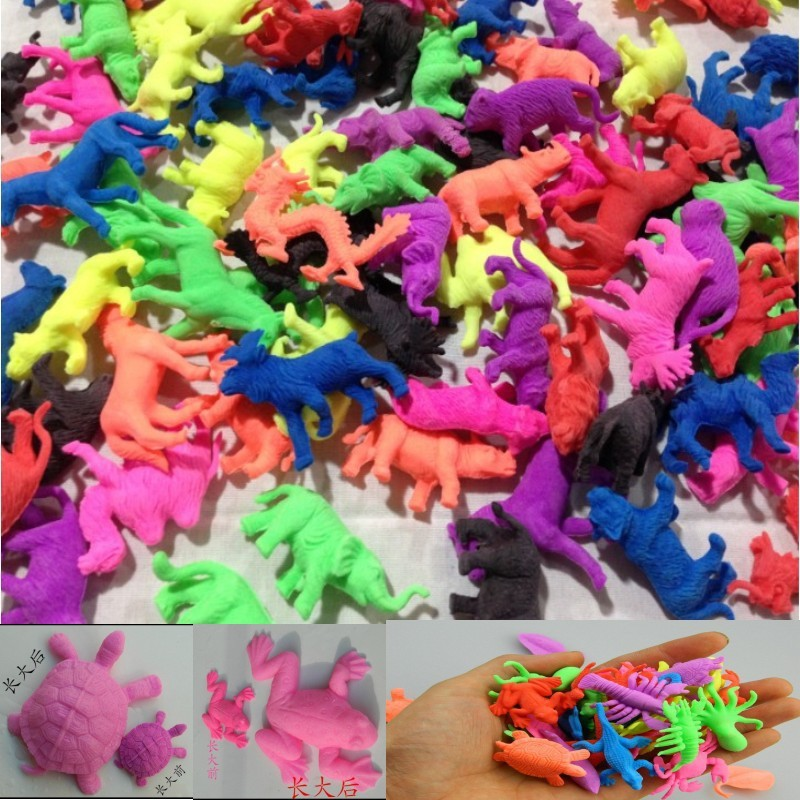 5PCS 2017 Novelty Water Grow Up Ocean Animal Rose Flower Fish For Child Educational Toys Kids Immagination Toys Free Shipping