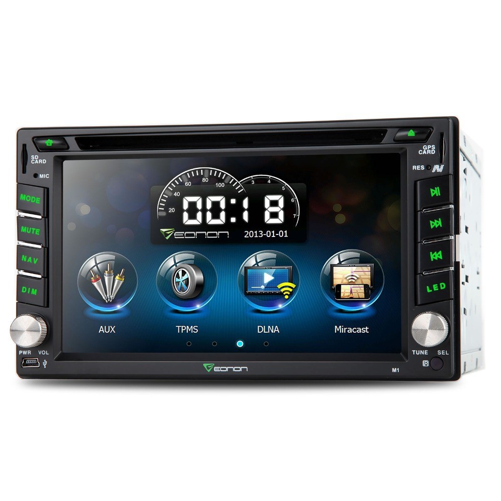 eonon m1 6 2 2din car gps dvd player double din stereo. Black Bedroom Furniture Sets. Home Design Ideas