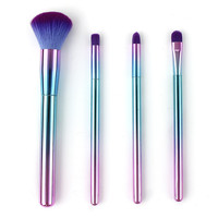 KESMALL 4Pcs Lot Fashion Professional Makeup Brush Set Blush Eyeshadow Brushes Portable Multifunction Face Make Up