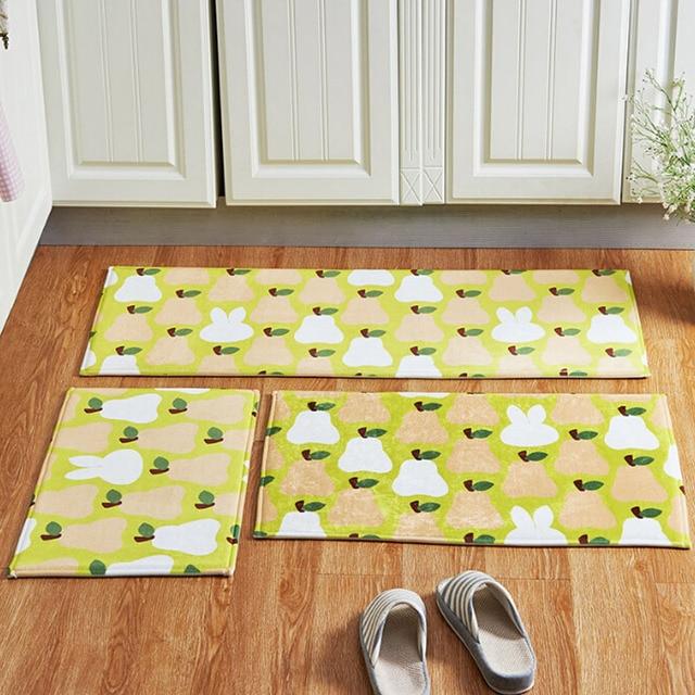 1pc Anti slip Bathroom Kitchen Floor Mats Yummy Pear Fruits Patterns ...