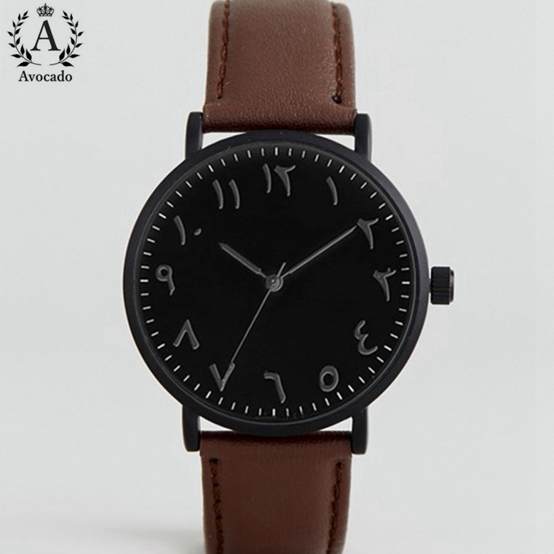 Men's Arabic Quartz Watches Fashion Watch Men Top Brand Luxury Male Clock Business Mens Wrist Watch Hodinky Relogio Masculino