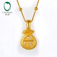 CAIMAO 24 К чистого золота груша Очаровательная подвеска около 2,15 г реальные 999 3d Жесткий процесс ювелирные украшения