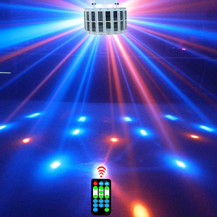 Professional LED disco lamp stage effect lighting party effect light 9 color RGB Par light DMX laser Lighting with remote contro