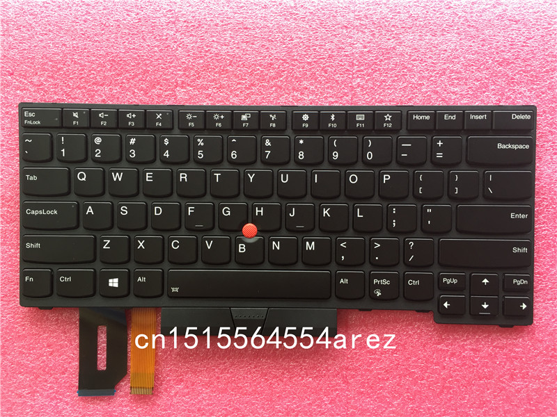 New Original laptop Lenovo ThinkPad THINKPAD T480S E480 L380 L480 Backlit Keyboard with Trackpoint US English 01YP280 new original backlit keyboard for lenovo thinkpad p70 p50 us english backlight keyboard 00pa288 00pa370
